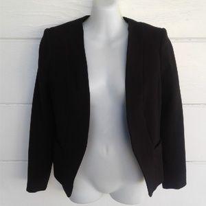 H&M Women's Black Blazer Jacket Cropped Size 6